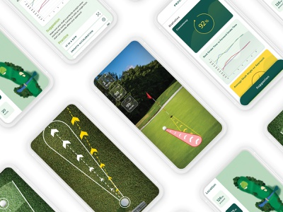 UI UX Freelance GOLF Mobile App Design Project players ground club golf