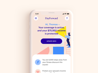 Life Insurance app UI overview rounded printing payment input components chat card pink violet design system calendar schedule scan illustration app mobile ui branding