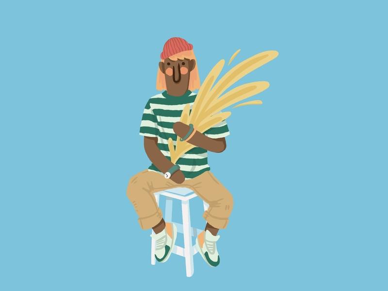 Plant Boy plants fashion matter power boy girl gender playful happiness joy black