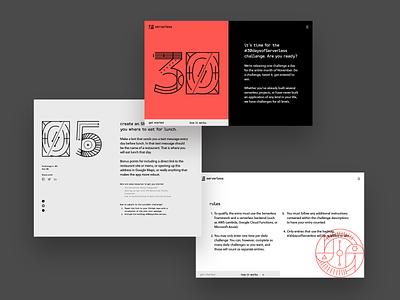 30 Days of Serverless landing branding startup serverless graphic illustration style simple tech developers minimal typography