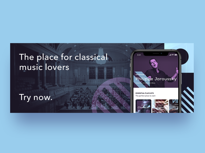 Classical music streaming app branding