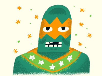 Luchador funny character illustrator editorial illustration luchador funny fun icon hand lettering design illustration hand drawn
