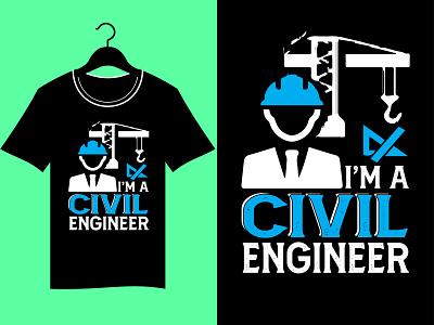 Engineer T-Shirt Design vector illustration design tshirt typography