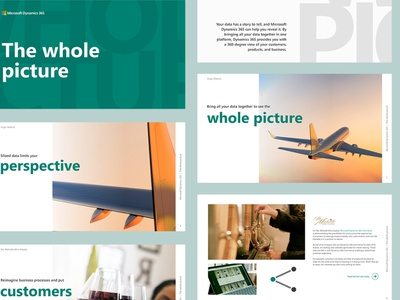 Microsoft D365 | The Whole Picture layout design gep digital publication branding microsoft ebook layout graphic design