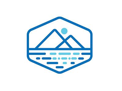 Reflective Logo reflective simple brand logo vector guidance spiritual mindfulness career building consultation coaching