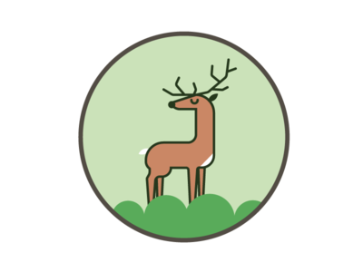 Buck Yeah! pacific northwest outdoors shapes animal nature color simple illustration pin deer buck