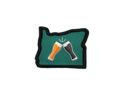 Beer Together Oregon Patch lompoc brew northwest oregon patchmarks stickers patch print beer