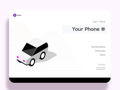 Simple Login Interaction For A Car Rental Platform otp login design login screen login page isometric illustration motion design app animation design ui ux