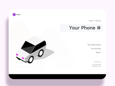 Simple Login Interaction For A Car Rental Platform otp login design login screen login page isometric illustration motion design app animation design ui ux
