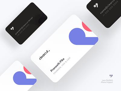 Clearcut Branding | Business Card typography vector branding logo design