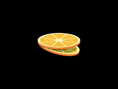Slice illustration fruit illustration vector two fruit orange slice slices orange