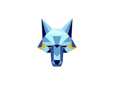 W-OOF icon logo head vector dog wolf badge