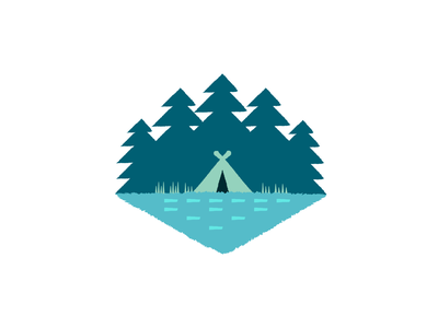Camping by the river tent trees go outside design illustration vector outdoor river outside nature camping