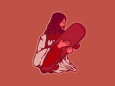 Rad Jesus mark logo skateboarding skateboard rad jesus