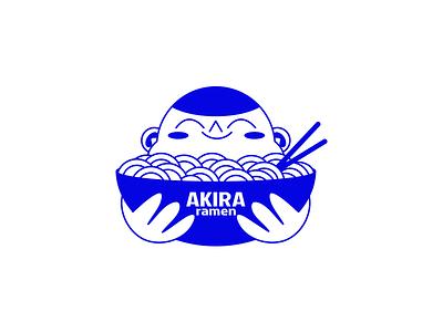 Akira illustration vector food logo chopsticks bowl noodles ramen