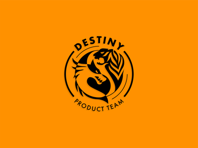 Destiny - Internal team identity branding series. icon typography logo badge branding illustration minimal flat vector design