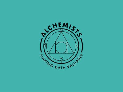 Alchemists - Internal team identity branding series. icon typography logo badge branding illustration minimal flat vector design