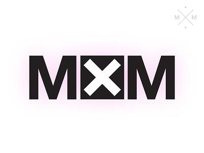 MXM Personal Branding Identity icon typography logo branding minimal flat vector design