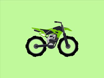 Kawa motorbike motorcyle bike minimal illustration vector flat design