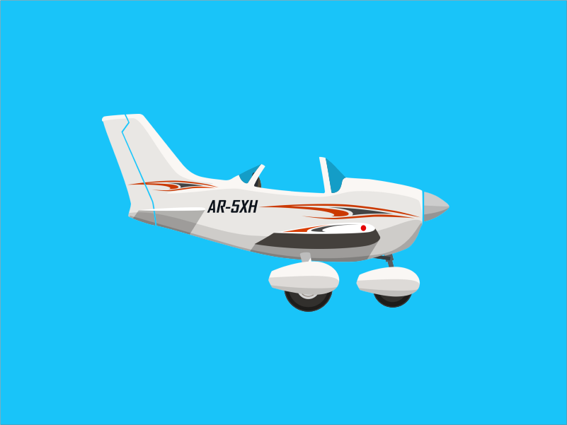 Cessna minimal planes airplane aircraft illustration vector flat design