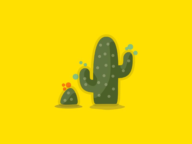 Cacti minimal illustration flat vector design