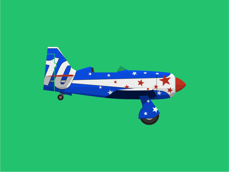 Hawker Sea Fury airplane aircraft minimal flat illustration vector design