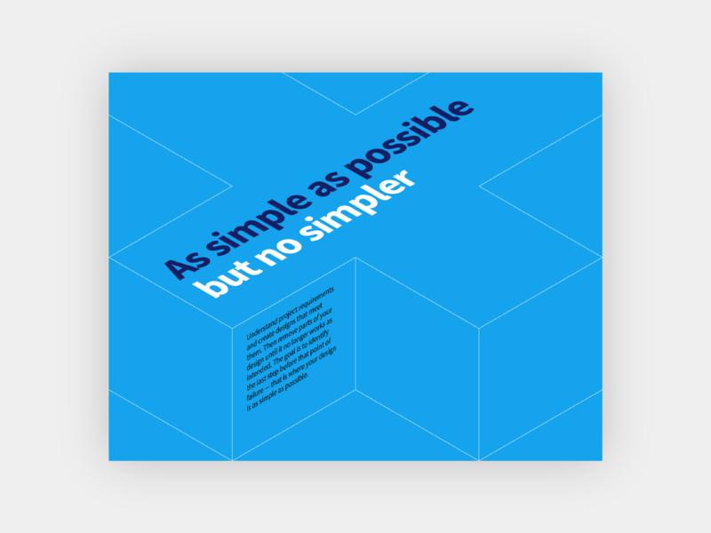 Simple guidelines principles poster minimal flat vector design