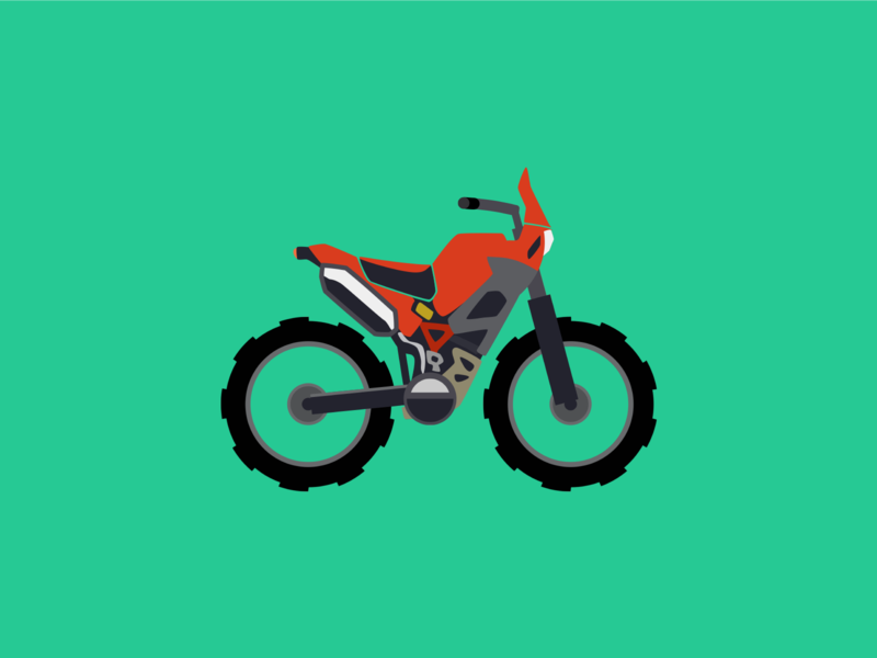 Adventure motorcycle motorbike bike illustration minimal flat vector design