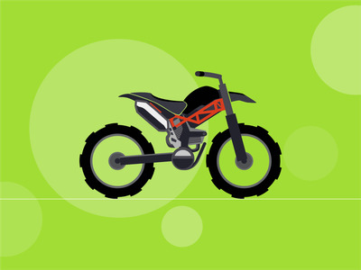 Monster motorbike bike illustration minimal flat vector design