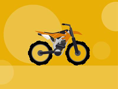 Motocross motorcycle motorbike branding bike illustration minimal flat vector design
