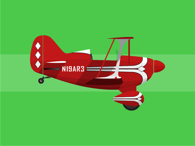 Pitts Special planes airplane aircraft illustration minimal flat vector design