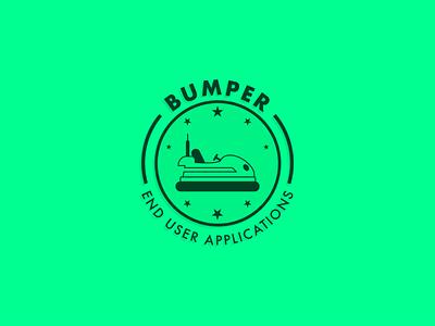 Bumper - Team Identity badge typography poster branding illustration minimal vector flat design