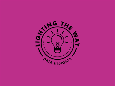 Lighting the Way typography logo badge branding illustration minimal flat vector design