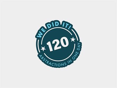 We Did It! typography logo badge branding illustration minimal flat vector design