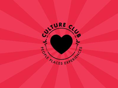 Culture Club team badge logo badge branding illustration minimal flat vector design