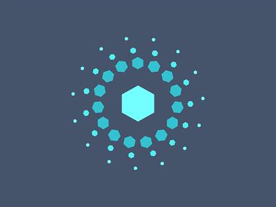 Precision Medicine Emblem icon badge branding minimal flat vector design