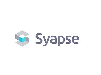 Syapse logo flat minimal logo branding vector design