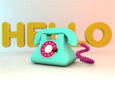 Hello animation graphic design motion graphics modeling 3d