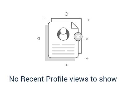 No Recent Profile Views no recent profile naukri recruiter naukri mobile app illustration informative filler illustration empty page illustration documents