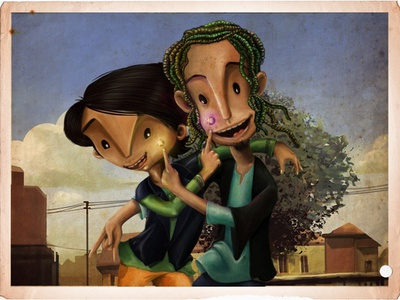 Friends-for-ever : puppets characterdesign friend stop motion photoshop digitalpainting design animation illustration