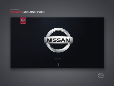 Nissan India Concept Landing Page car welcome page black ui ux invision invision studio brand logo scroll animation nissan landingpage web deisgn animation onboarding design ui