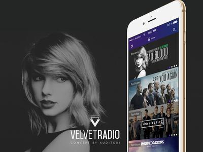 VelvetRadio Concept App velvetradio velvet music app auditori concept