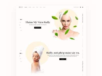 Beauty Salon Website spa beauty abstract color typography layout interaction design uiux black and white web design