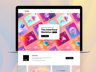 The Interface Skeleton brand identity branding poster design mobile design art abstract uiux layout black and white typography web design interaction design