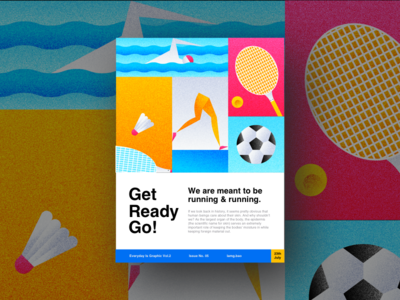 Get Ready, Go! landing page mobile design art abstract uiux layout black and white typography web design interaction design page landing