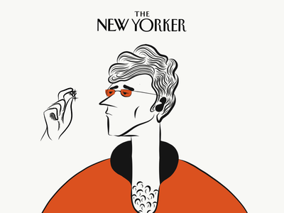 The New Yorker Dandy Dude magazine the new yorker uiux web design art mascot emoji character character design composition color illustration