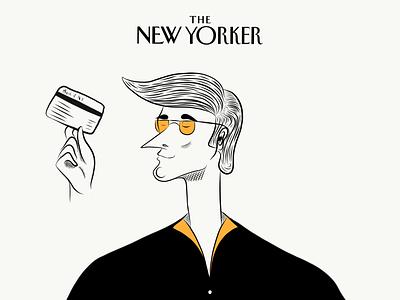The New Yorker Dandy Dude uiux ui design web design art mascot emoji character character design composition color illustration