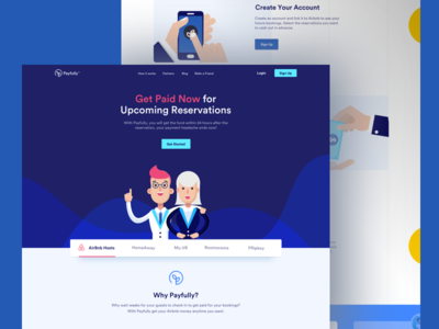 Payfully - Landing Page ux ui illustration color typography layout responsive mobile design landing page interaction design uiux web design