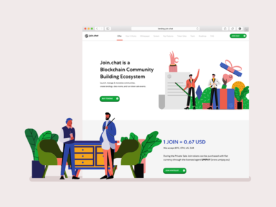 Join.Chat - A Design Story character design typography mobile app web character crypto currency interaction design ui flat illustration crypto landing page