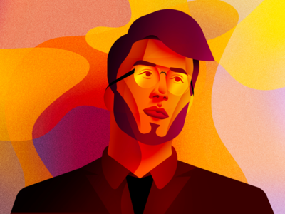 Another Man... Again uiux typography mobile app web character businessman character design ui portrait illustration avatar landing page